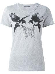 футболка с принтом птиц Alexander McQueen