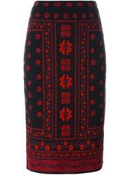юбка-карандаш вязки интарсия Alexander McQueen