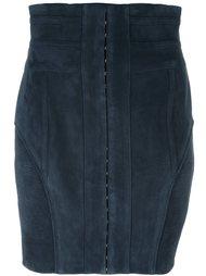 юбка с отделкой в рубчик Balmain