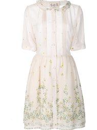 платье-рубашка с цветочным принтом Sea