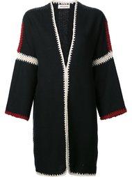 объемное пальто без застежки Masscob