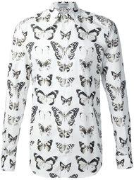 рубашка с принтом бабочек Alexander McQueen