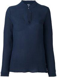 плиссированная блузка с круглым вырезом A.P.C.