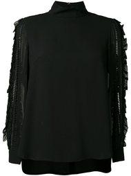 блузка с отделкой на рукавах Muveil