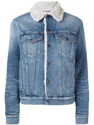 джинсовая куртка с меховой подкладкой Saint Laurent