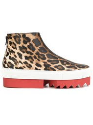 леопардовые кеды на платформе Givenchy
