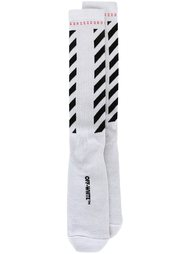 носки 'Brushed Diagonals' Off-White