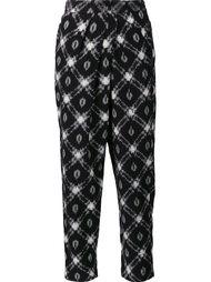 укороченные брюки с принтом Masscob