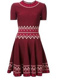 платье А-образного силуэта с орнаментом Alexander McQueen