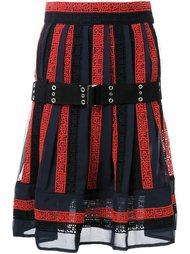 юбка с вышивкой Sacai