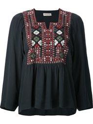 блузка  геометрической вышивкой Masscob