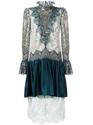 кружевное платье с драпировками Lanvin