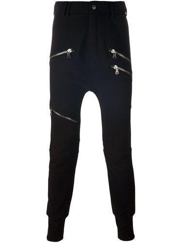 зауженные брюки на молнии  Pierre Balmain