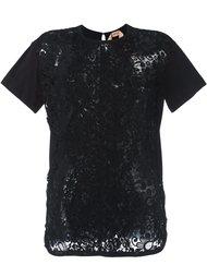 футболка с цветочным кружевом Nº21