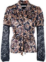 приталенная рубашка с цветочным рисунком Rodarte
