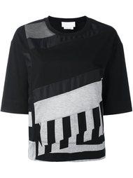 футболка с контрастными панелями и короткими рукавами DKNY