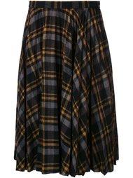 плиссированная клетчатая юбка Maison Margiela