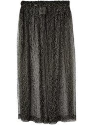 прозрачная юбка миди Comme Des Garçons Vintage