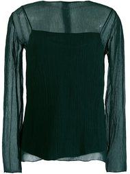 блузка с круглым вырезом Nina Ricci
