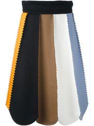 юбка А-образного силуэта с панельным дизайном Salvatore Ferragamo