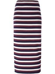 трикотажная юбка в полоску Victoria Beckham