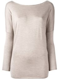 блузка с вырезом-лодочка Ralph Lauren Purple