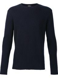 трикотажеый свитер в рубчик A.P.C.