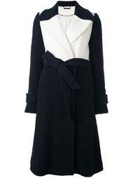 пальто дизайна колор-блок с поясом Diane Von Furstenberg