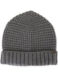 шапка вафельной вязки Bark