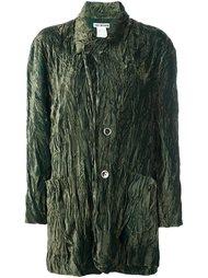 velvet wrinkled light jacket Issey Miyake Vintage