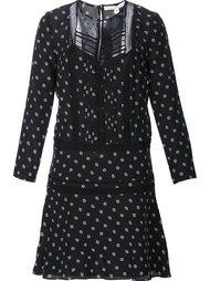 полупрозрачное платье с принтом в горошек Veronica Beard
