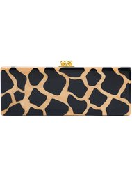 leopard pattern rectangular clutch Edie Parker