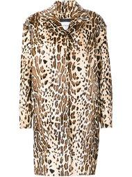 пальто с животным принтом Yves Salomon
