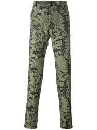 paisley lace trousers Christian Pellizzari