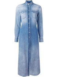 удлиненная джинсовая рубашка R13