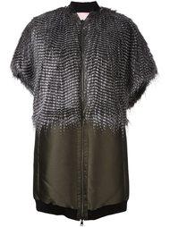 пальто с эффектом фазановых перьев Giamba