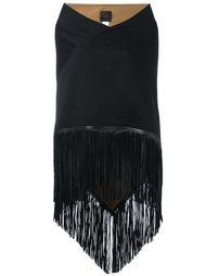широкий платок с бахромой Agnona