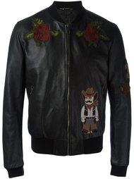 куртка-бомбер с заплаткой ковбоя Dolce & Gabbana