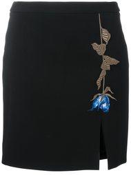 юбка мини с вышивкой Christopher Kane