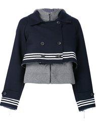 укороченная куртка с капюшоном Sea