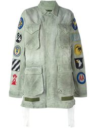 куртка в стиле милитари с заплатками Off-White