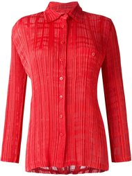 burned out pleated shirt Issey Miyake Vintage