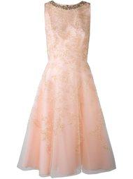 платье с цветочной вышивкой  Oscar de la Renta