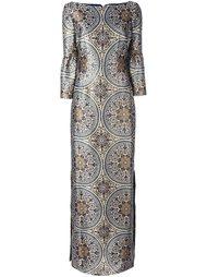 длинное платье с орнаментом Vilshenko