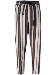 зауженные полосатые брюки Forte Forte