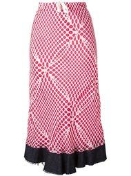 юбка с оптическим принтом Comme Des Garçons Vintage