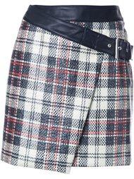 юбка в клетку с драпировкой McQ Alexander McQueen