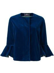 укороченный пиджак с расклешенными манжетами Capucci