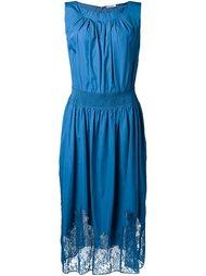 платье с кружевным подолом Nina Ricci