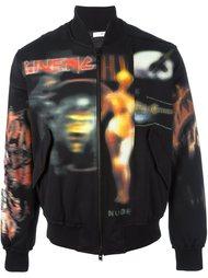 куртка-бомбер с абстрактным принтом   Givenchy